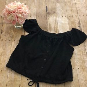 Madewell Texture and Thread Off Shoulder Top- XL